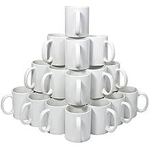 72 Tazas de Cerámica Blanca de Grado AAA para Sublimación con Cajas