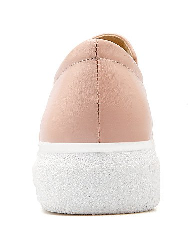 ZQ gyht Scarpe Donna-Mocassini-Casual-Punta arrotondata-Basso-Finta pelle-Nero / Rosa / Bianco , pink-us8 / eu39 / uk6 / cn39 , pink-us8 / eu39 / uk6 / cn39 white-us6 / eu36 / uk4 / cn36
