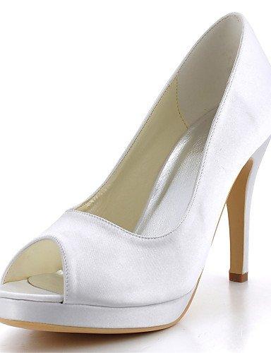 WSS 2016 Chaussures de mariage-Noir / Bleu / Jaune / Rose / Violet / Rouge / Blanc / Argent / Or / Amande / Beige-Mariage / Habillé / Soirée & 4in-4 3/4in-purple