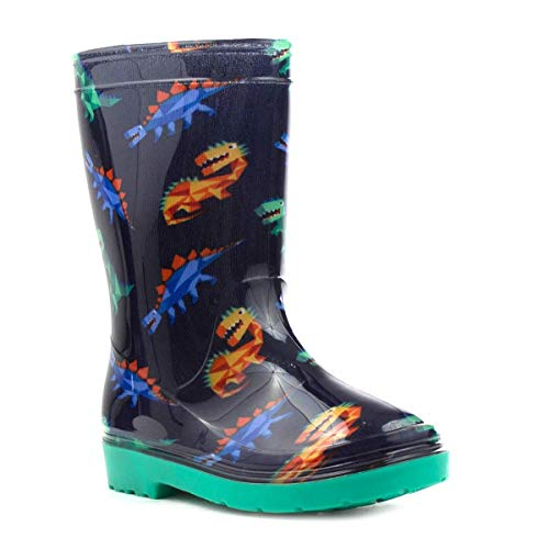 ZONE - Kids Blue & Green Dinosaur Welly