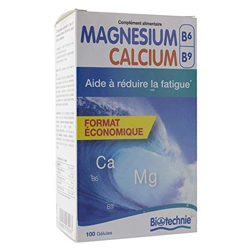 Biotechnie - Magnésium marin b6 - 100 capsules molles - Equilibre et bien-être