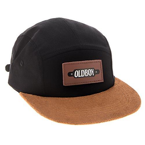 Leda Art Supply Limited Oldboy Chapeau Plat à Cinq Panneaux pour Les Longboarders et Les Patineurs Noirs.