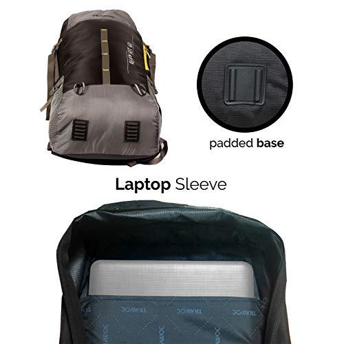 TRAWOC 55 Ltr Travel Backpack for Outdoor Sport Camping Hiking Trekking Bag Rucksack, Black Image 7