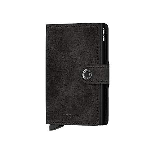 Secrid - miniwallet vintage con protezione rfid, made in holland, colore: nero