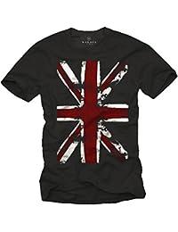 Vintage England T-Shirt UNION JACK Flagge schwarz Männer S-XXXL