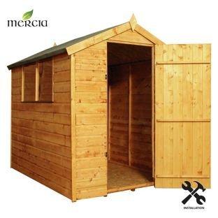 Mercia shiplap Apex tetto legno installazione included-7x 1,5m.