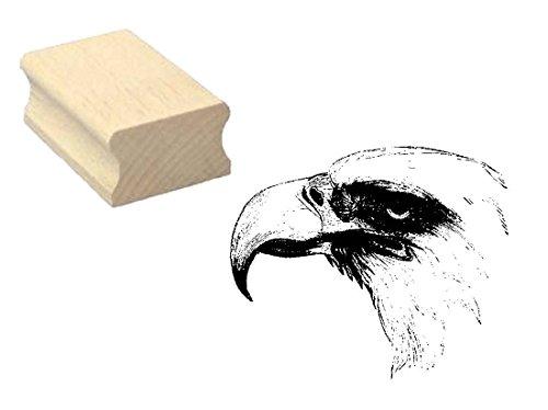 Stempel Holzstempel Motivstempel « ADLER KOPF » Scrapbooking - Embossing Basteln Ornitologe Vogel Tiere (Adler-stempel)