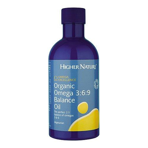 Higher Nature, Huile d'Omega 3 6 9 organique équilibrée, 350ml