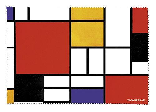 Bauhaus Brillenputztuch Brillentuch aus Mikrofaser *Mondrian-Style*
