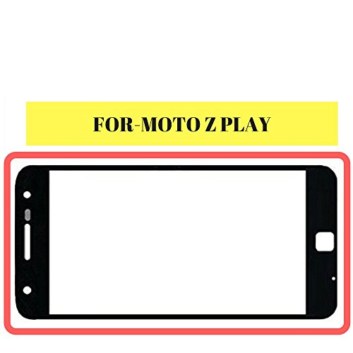 HUKATO.COM Brand New Glass Outer Lens Pad For Motorola Moto Z Play Touch Black