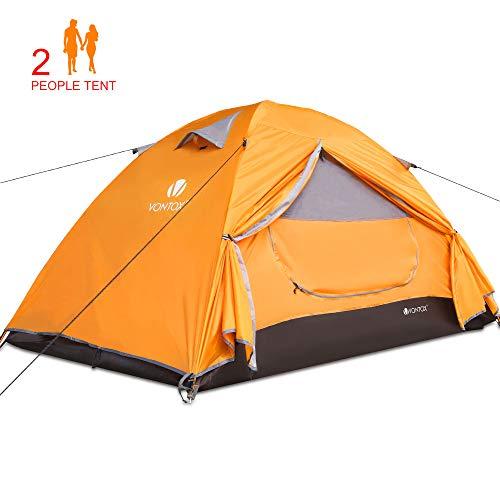 V VONTOX Tenda Campeggio, 2 Persone Ultra-Leggero Tenda Impermeabile a Due Porte per Campeggio, Escursioni, Arrampicata