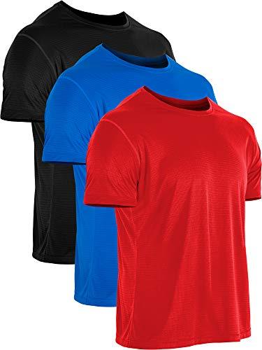 Cadmus Herren Sport-T-Shirt, kurzärmelig - blau - Mittel -