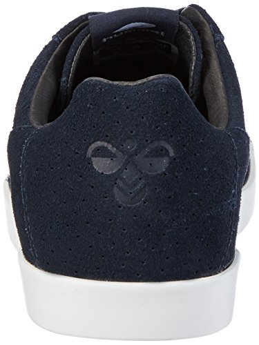 Hummel Herren Cross Court Suede Low-Top Blau (Total Eclipse)