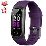 Trswyop Montre Connectée, Cardiofréquencemètre Bracelet Connecté Podomètre Etanche IP67 Femme Homme Enfant Sport Cardio Fitness Tracker d'Activité Tension Artérielle Smartwatch pour Android iOS