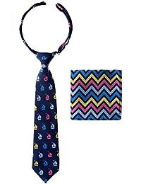 Canacana - Corbata de chico preatada con rayas onduladas