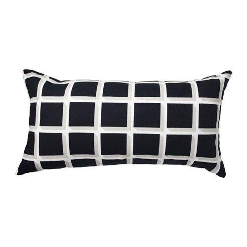 """IKEA Zierkissen / Sofakissen \""""Avsiktlig\"""" Kissen in 30 x 60 cm - Baumwollbezug - bequem als Nackenkissen oder als Rückenstütze - formstabil - schwarz-weiß"""