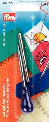 Pfriem - mit Schutzkappe Griff pflaumenblau, 1 Stück