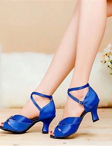 ShangYi Tanzschuhe Nicht Anpassbare - Keilabsatz - Satin - Latin - Damen Blue