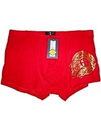 Mens chinois short mode sous-vêtements rouges de boxeur, très confortable