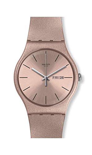 Orologio Swatch New Gent SUOP704 Al quarzo (batteria) Plastica Quandrante Rosa Cinturino Silicone