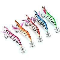 Zerone 5pcs señuelos de Pesca Resplandor en la Pesca Oscura señuelos cebos Ganchos en Forma de camarón Herramienta de Accesorios