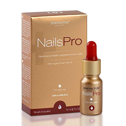 Simon & Tom NailsPro Day. Premium Nagel Behandlung. Geeignet für Finger- und Fußnägel. Mit Teebaum und Arganöl. 10ml - Fingernagel-pilz