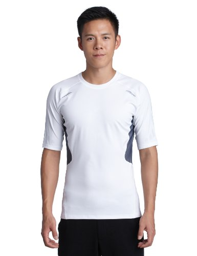 adidas Herren kurzärmliges Shirt Techfit Preparation, white, M, W58878 (Short Adidas Core Top Sleeve)