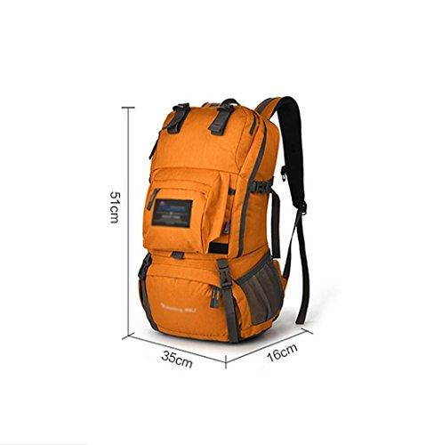 HWLXBB Outdoor Bergsteigen Tasche Männer und Frauen 40L Wasserdichte Mehrzweck-Bergsteigen Tasche Wandern Camping Bergsteigen Freizeit Rucksack Rucksack 2*