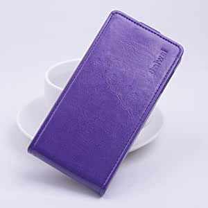 Flip Up And Down PU Leather Protective Case For Lenovo Vibe Z2-Purple