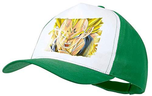 Gorra Verde DBZ Majin Vegeta SSJ2 FURIOSO Color Cap