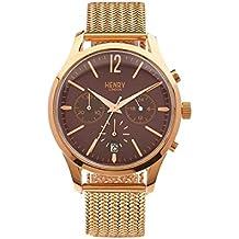 Henry London Unisex-Armbanduhr Hampstead Chronograph Quarz Edelstahl HL39-CM-0088 (Zertifiziert und Generalüberholt)