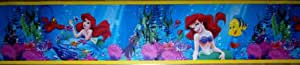 FRISE ADHESIVE ARIEL LA PETITE SIRENE DISNEY / 5 metres x 15 cm