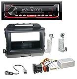 caraudio24 JVC KD-T402 USB AUX MP3 1DIN CD Autoradio für Kia Sportage 3 (Navi ab 10) schwarz