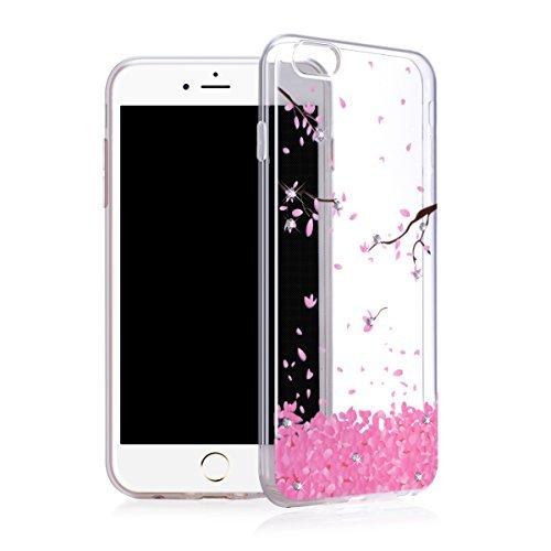 iPhone 6S Plus Fall, iPhone 6Plus Case, Transparent Sleek Slim Armor Kratzfest Schutz Mobile Cover Fullbody Bumper für Apple iPhone 6splus 6Plus-Deluxe Edition Strass Soft Cases Deluxe Soft Case
