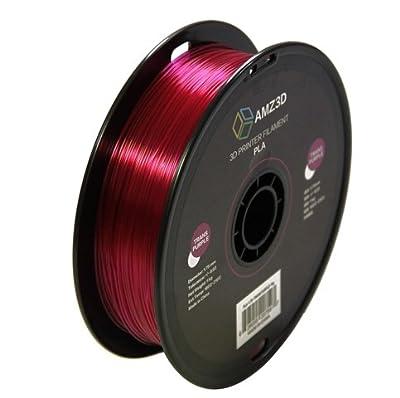 1.75mm Transparent Purple PLA 3D Printer Filament - 1kg Spool (2.2 lbs) - Dimensional Accuracy +/- 0.03mm