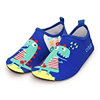 Kids Non-slip and Quick-drying Diving Swim Shoes Drifting Snorkeling Soft Boots Sports Beach Flexible Water Sport Socks (23-24, Blue)