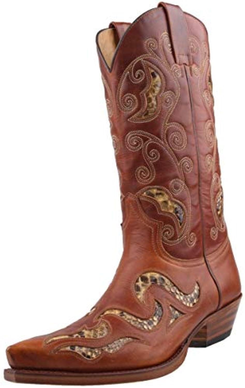 Sendra Botas de vaquero 7490 en marrón incl. Roy Dunn 's piel grasa y Sacabotas