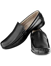 Tapps Men's Pure Leather Formal Shoes Slip on