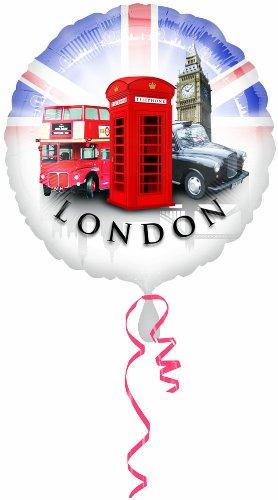 Amscan PPP 18-inch Great Britan London Icons Balloon