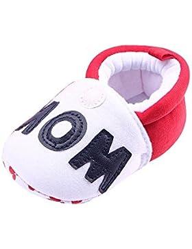 OverDose Unisex Toddler Baby Round Toe Flats weiche warme Baumwolle Schuhe Infant Jungen-Mädchen-Kleinkind Schuhe