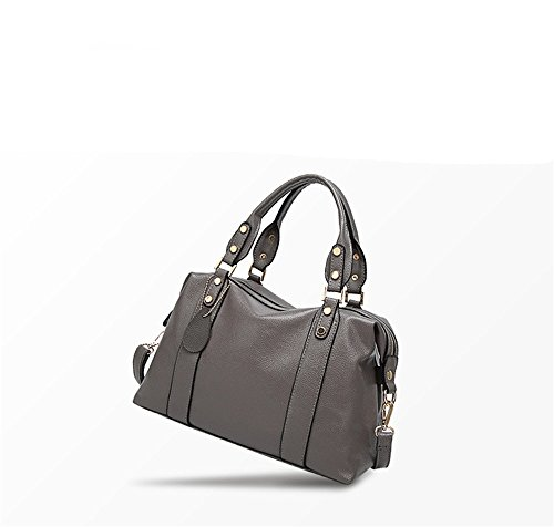 Anne, Borsa a mano donna nero Red Dark Gray