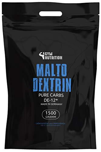 GYM-NUTRITION® - Hardcore Malto-dextrin | Feines Kohlenhydrate Pulver | Beliebt bei Fitness Powerlifing & Bodybuilding | Ideal für Hardgainer | Made in Germany | Maltodextrin 12 | 1,5 kg Beutel