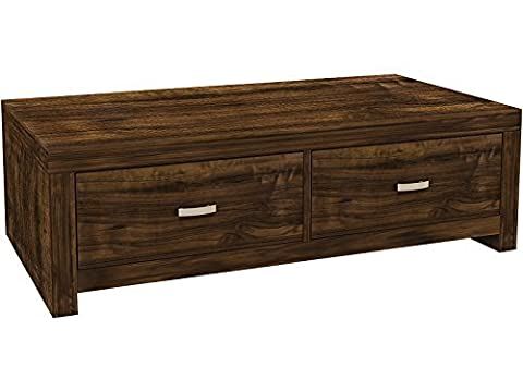 Hampton Warm Acacia Coffee Table with 2 Drawers - Unique Design