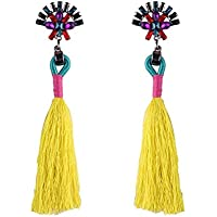 LAAT Weave borla pendientes Pendientes de flecos bohemios para mujer para regalo de cumpleaños Decoración de fiesta