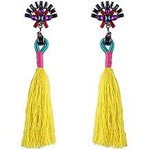 LAAT Weave Borla Pendientes Pendientes de Flecos Bohemios para Mujer para Regalo de cumpleaños Decoración de