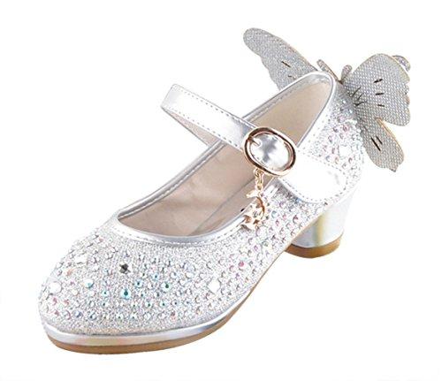 Y-BOA Chaussure Sandale Ballerine Danse École Bal Nœud Papillon Brillant Paillette
