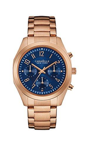 Caravelle New York Damen-Armbanduhr BOYFRIEND Chronograph Quarz Edelstahl beschichtet 44L199