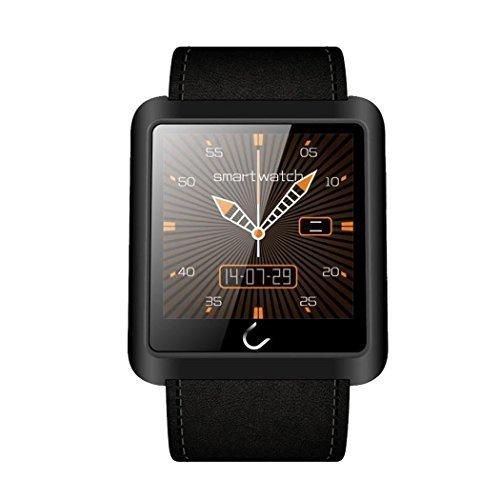 e821 U10L inteligente reloj Mobile Anti - perdido Bluetooth 3.0 Diseño con manos libres de llamadas / llamada Vibración / Seguimiento podómetro / Muñequera Sleep monitor / Vibración Masaje / identificador de llamadas de teléfono de llamada Sync y la exhibición del tiempo del LED para IOS iPhone Android Samsung HTC LG SONY y la mayoría de smartphones (Negro)