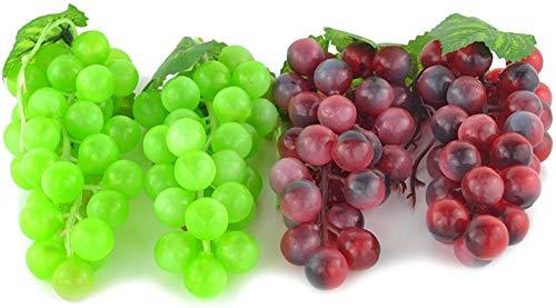JEDFORE 4 Lazo Verde Artificial & Púrpura Grape Cluster