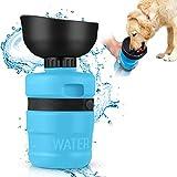 MIFIRE Hundetrinkflasche Unterwegs mit ON/Off auslaufsicherer Trinkschale...